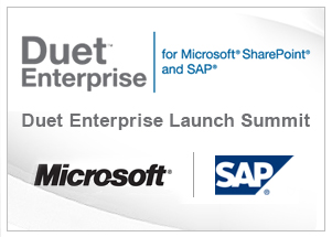 Duet Enterprise Launch Summit
