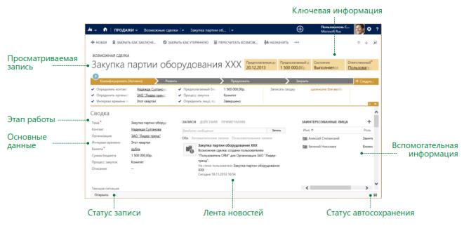 Dynamics CRM 2013 - Обновленный интерфейс -1